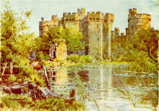 Bodiam Castle in 1906