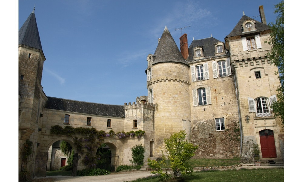 castle of la celle-guenand