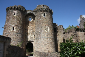 13th century gatehouse in the Castle of Chateaubriant, France