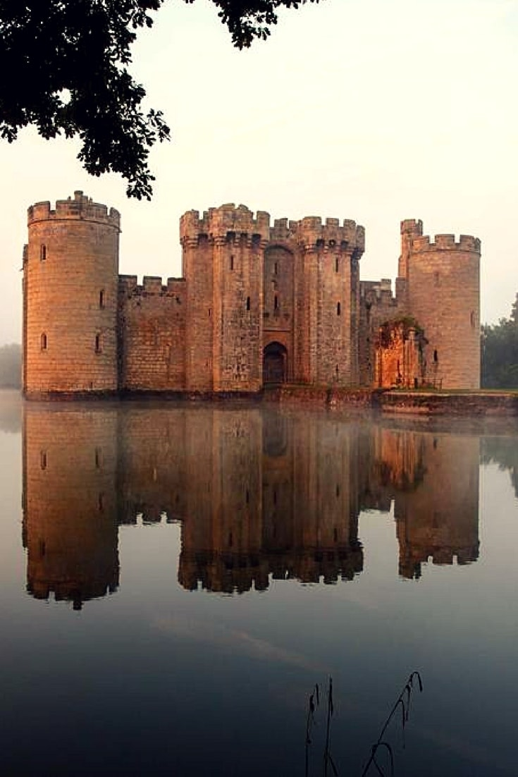 Bodiam Castle is one of the most picturesque and beloved castles in Great Britain. Many historians consider that Bodiam represents the popular ideal of a medieval castle. However, there is a constant debate among historians whether the castle was built for military strength or just as a romantic country home