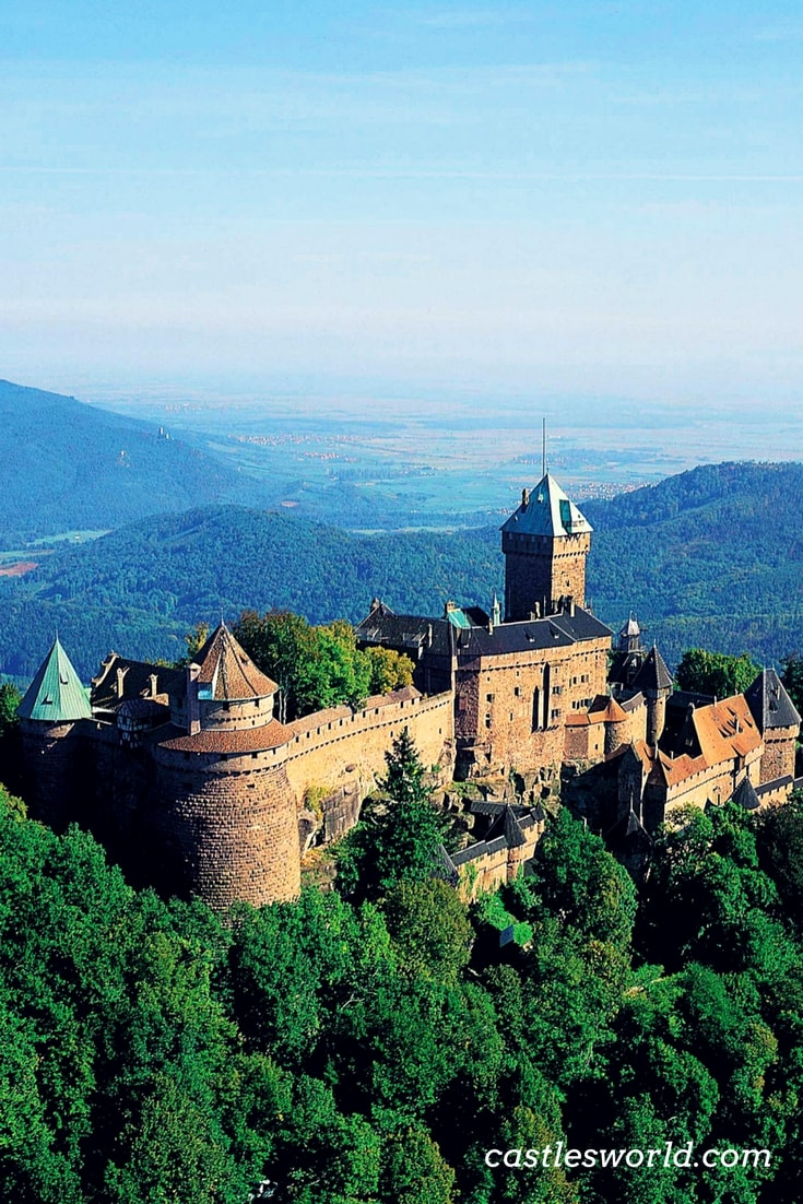 The Castle of Haut-Koenigsbourg was built in a strategic location, on a rocky promontory, high above the Upper Rhine valley. It dates back to the 12th century and it has a rich history. Today, it is fully restored and one of the top attractions in Alsace