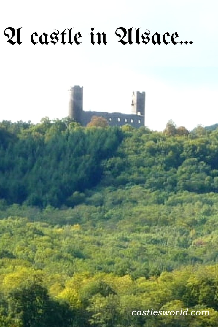The Castle of Haut Andlau is now largely a ruin. It dates back from the 13th century and its main features are the two characteristic towers. It is nicely positioned above the valleys of two rivers. Nearby, the nice ruins of the Castle of Spesbourg can also be visited.