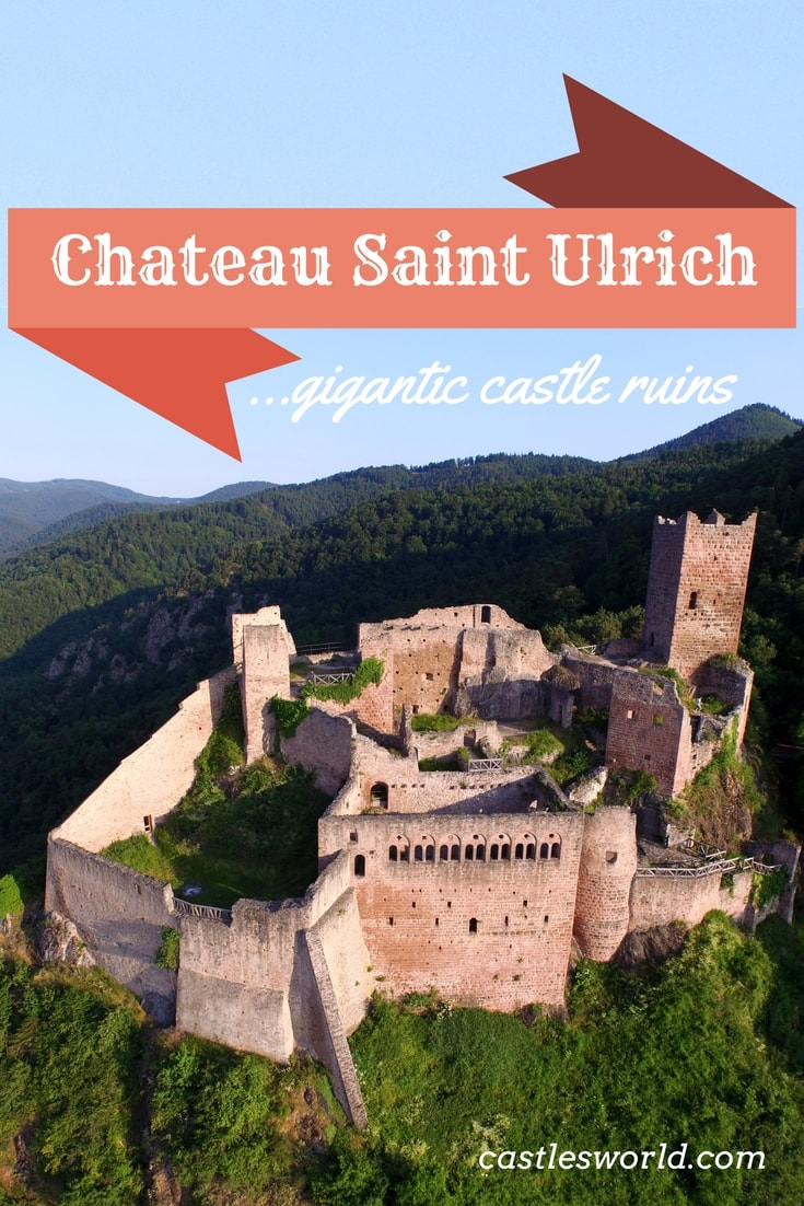 A fascinating castle complex that was once one of the finest examples of military architecture in Alsace. These castle ruins impress visitors with their sheer size; they also attract because of their wide variety of architectural styles: Gothic and Renaissance elements adjoin Romanesque characteristics.
